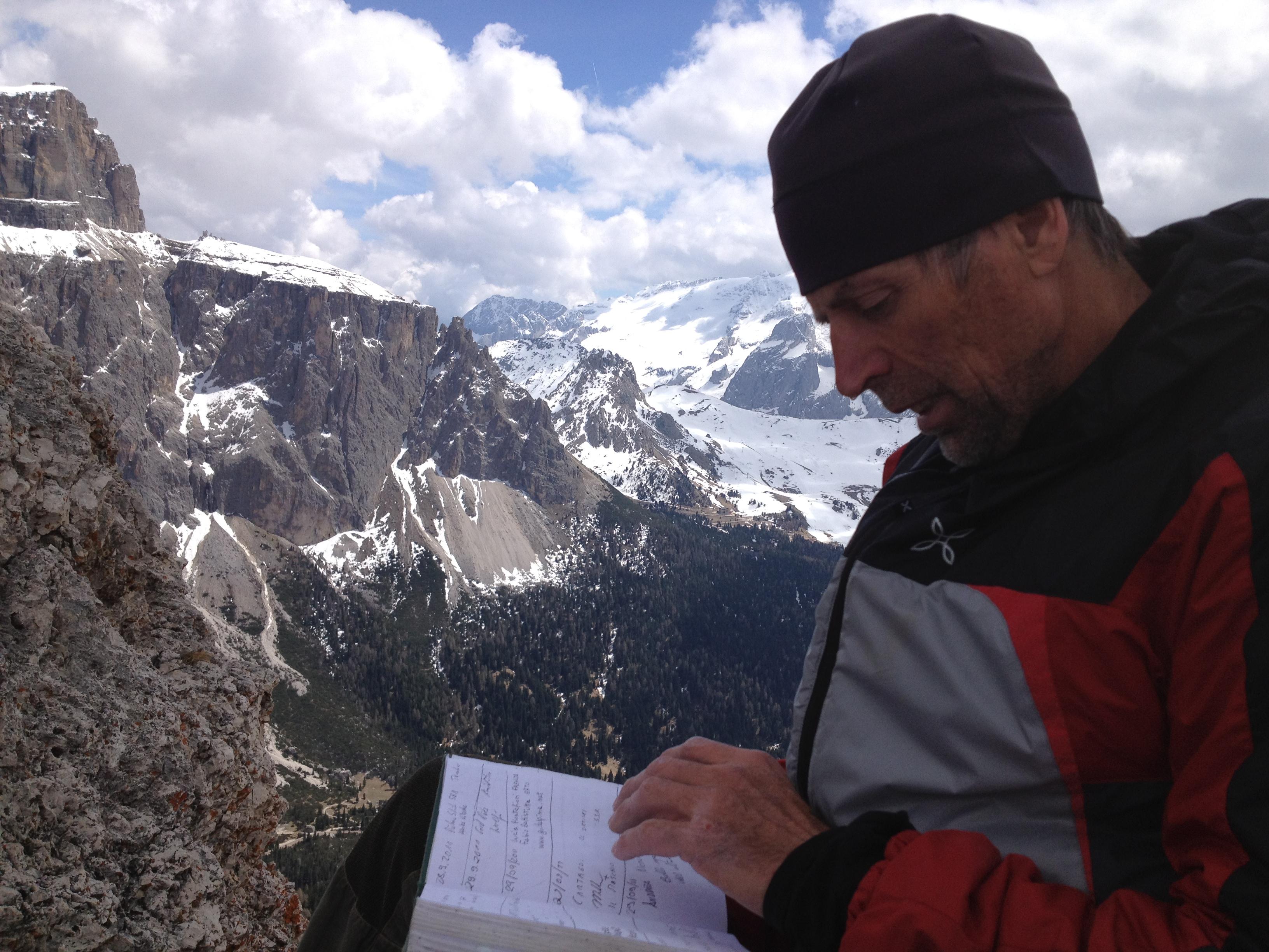 Bruno Pederiva - Torri del Sella - Libro di vetta